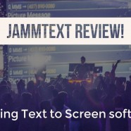 Text to Screen: JAMMTEXT!
