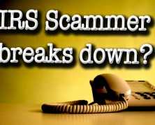 """I don't like this job."" IRS Scammer breaks down? 