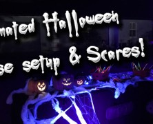 Spooky season! Animated halloween setup + scaring people!