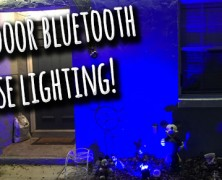 "Outdoor lighting to ""paint"" your house… with BLUETOOTH!! 