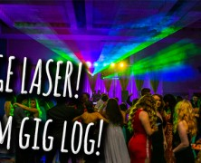 DJ Gig Log | Prom with HUGE laser!!!